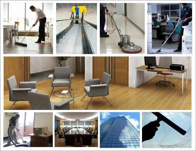 Vệ sinh phần tinh các công trình như lau sàn, lau kính, giặt thảm,..